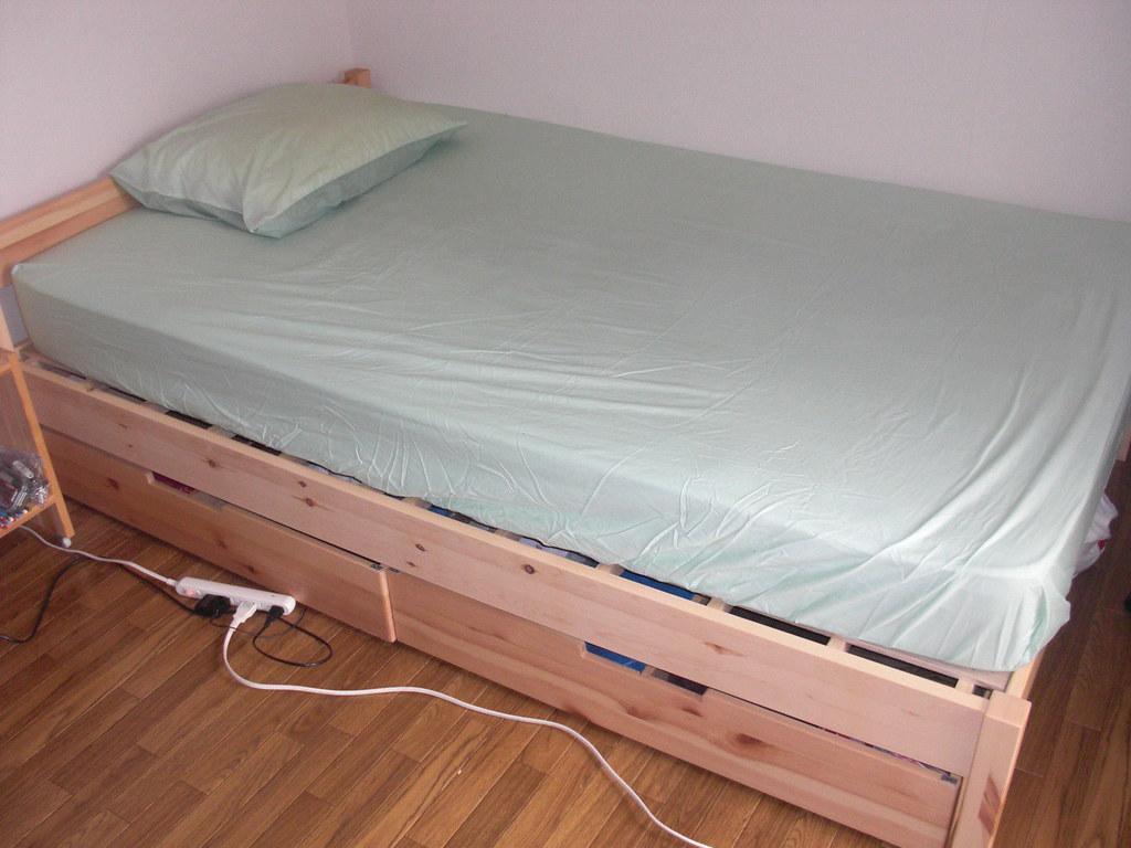 muji semi double bed 30000 yen bought new from muji a year flickr - Muji Bed Frame