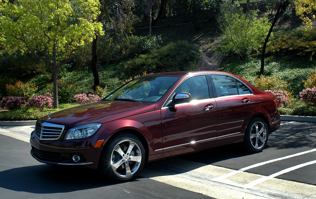 2008 mercedes benz c300 luxury barolo red fvl