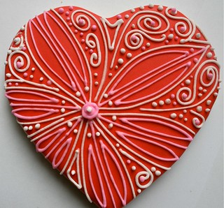 Valentine heart cookies | by My Cookie Affair