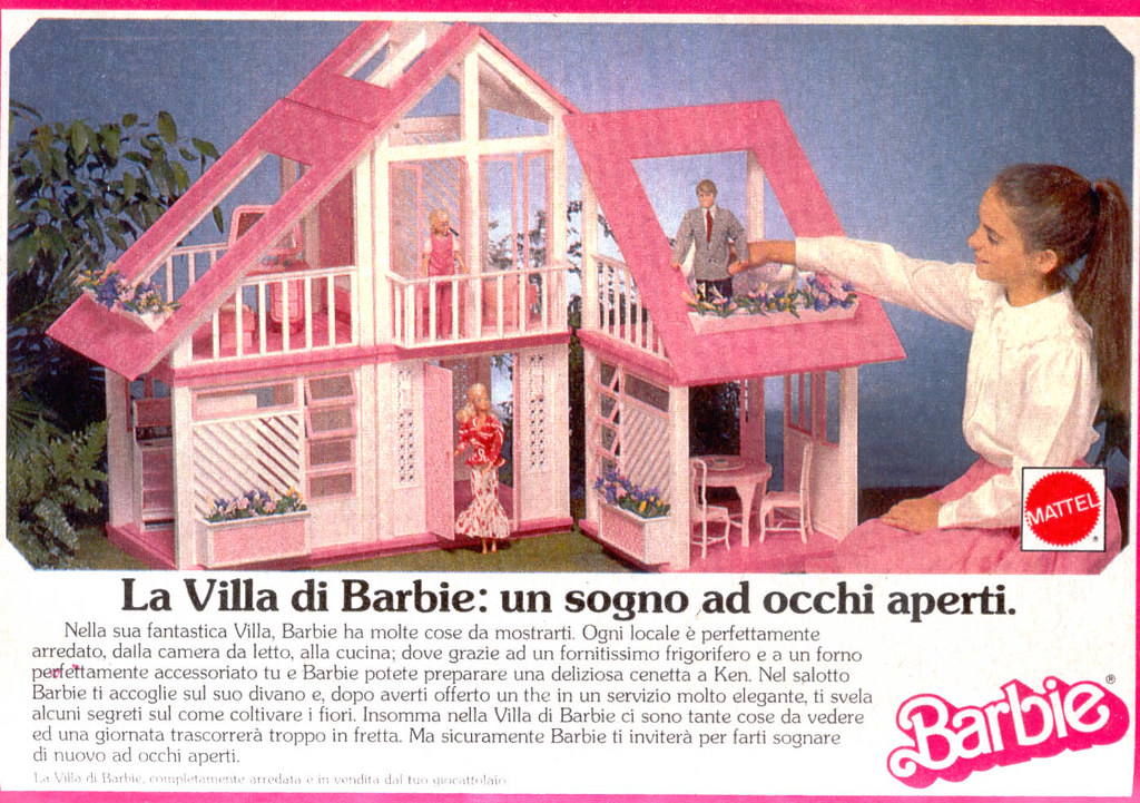 barbie advertising pubblicit di barbie 1989 villa di