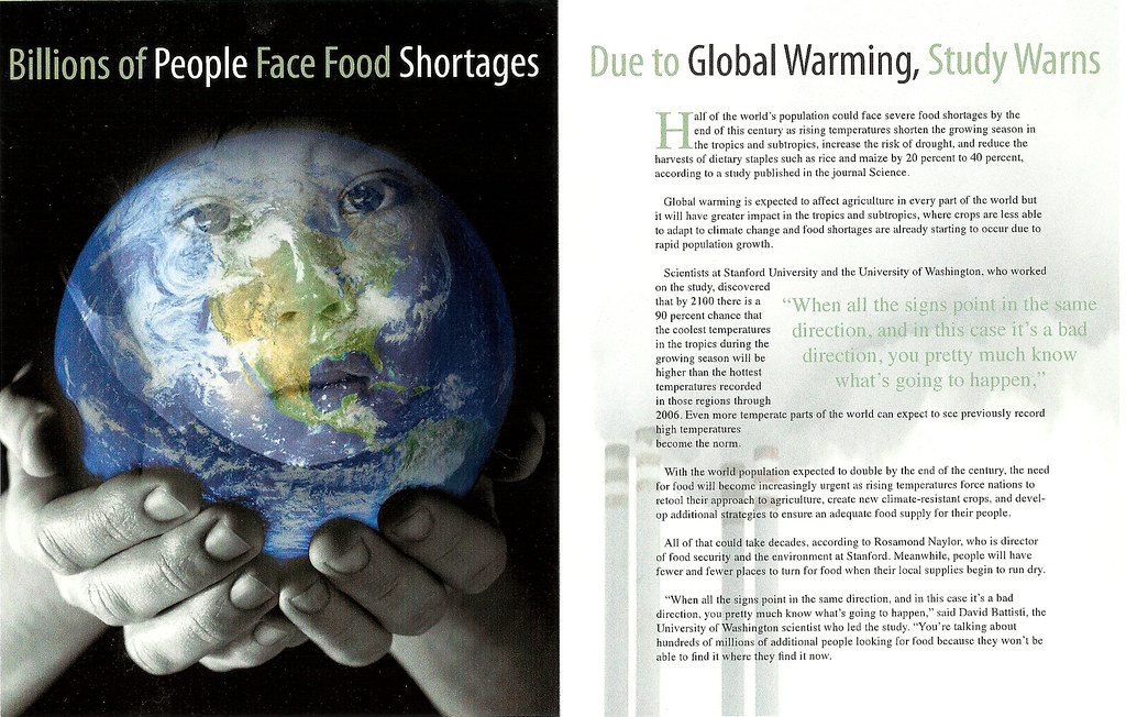 Global warming editorial essay