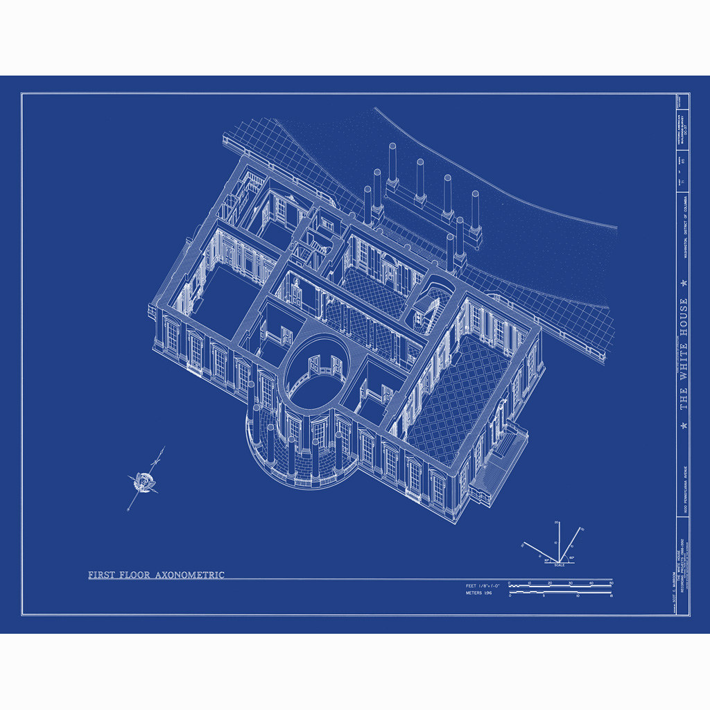 White house blueprint from flickr for How to find blueprints of a house