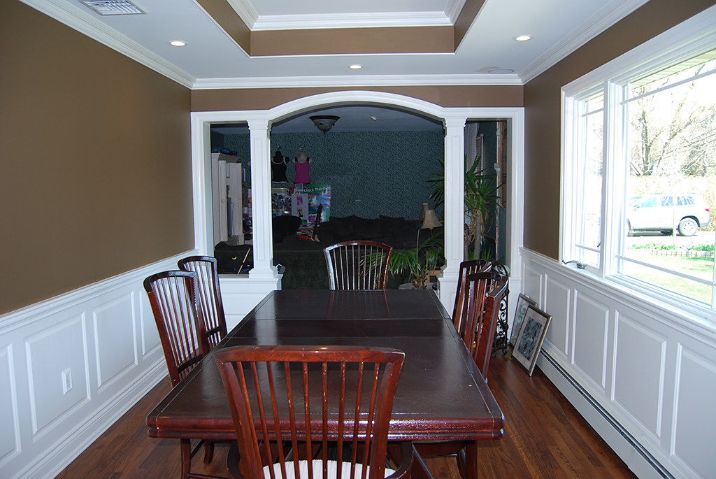 Wainscoting panel beaded raised panel dining room oakdale flickr - Dining room panels ...
