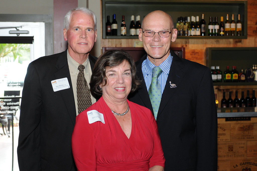 James Carville with TB Board member Dan Bailey and wife Na ...