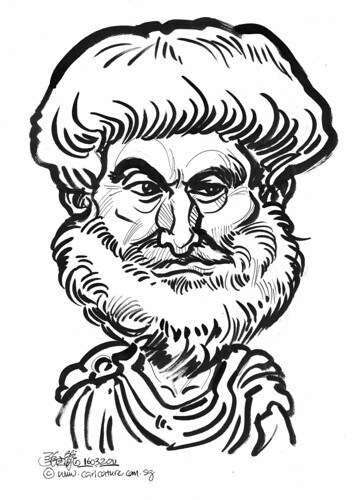 Caricature of Aristotle | Flickr - Photo Sharing!