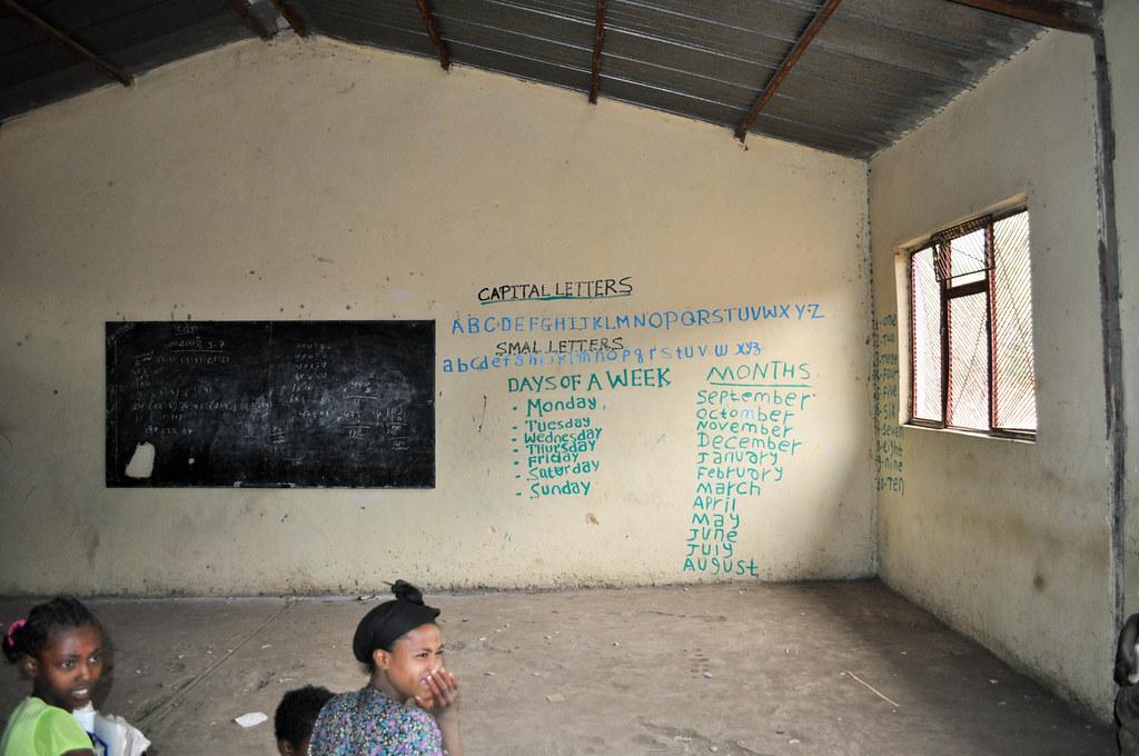 Classroom in Ambover, Ethiopia
