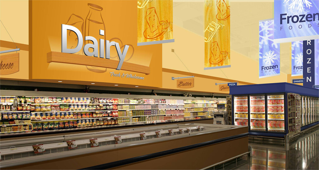 Grocery Store Design Dairy Area Design Grocery Store U