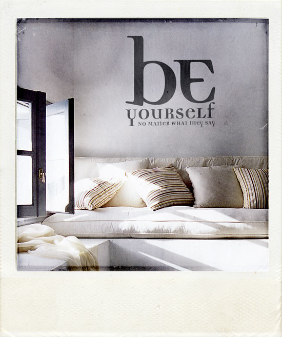 Be yourself wall sticker now at for Harmonie interieur