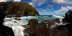 Rocky Foamy Cove at Red Sand Beach