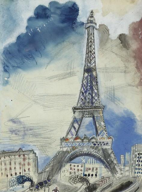 [ C ] Marc Chagall - La Tour Eiffel (1910) | Flickr ...