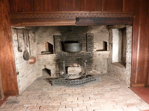 Lummus House Hall Inglenook Fireplace With Seat April
