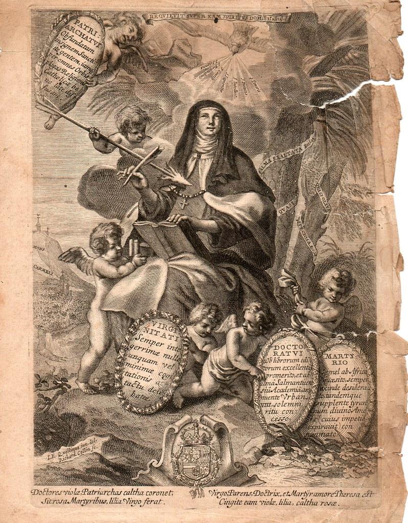 Santa Teresa De Jes 250 S Grabado Dibujo De I E Quellinus