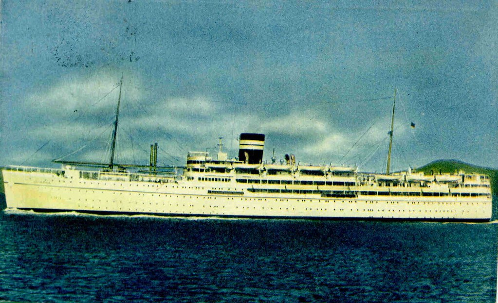 ms dunera british india line 19371967 postcard sold in