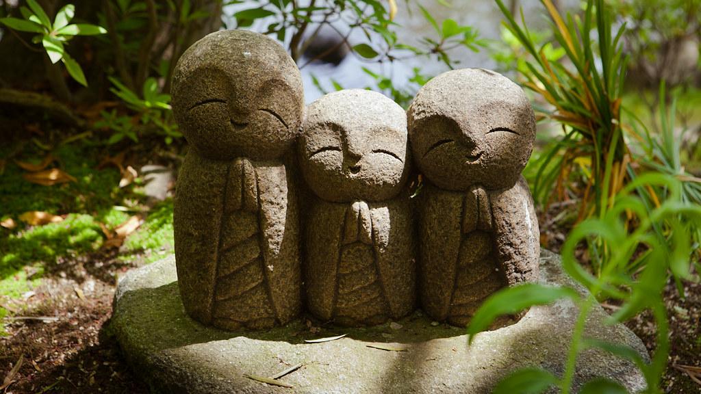 Jizo Statue Garden Cute Nagomi Jizo Statues