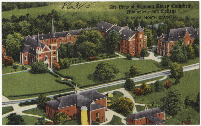 Air View Of Belmont Abbey Cathedral Monastery And College Belmont North Carolina Flickr