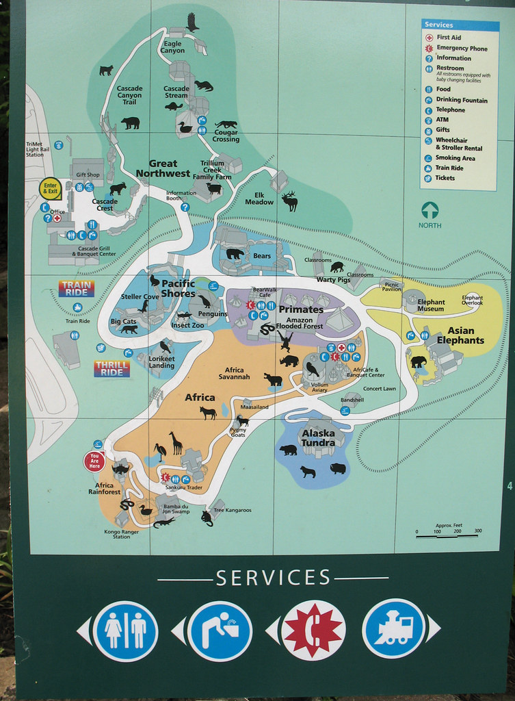 Oregon Zoo map I noticed that I was getting a lot of visit Flickr