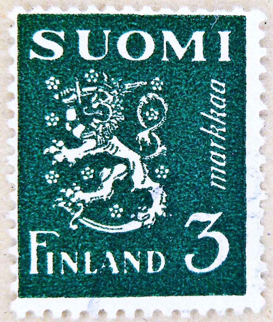 stamp suomi finland 3m poste timbre postage finlande selo