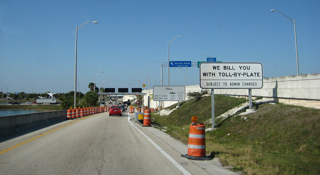 Florida Toll By Plate >> SunPass or TOLL-BY-PLATE | Signs on the Turnpike exit to ...