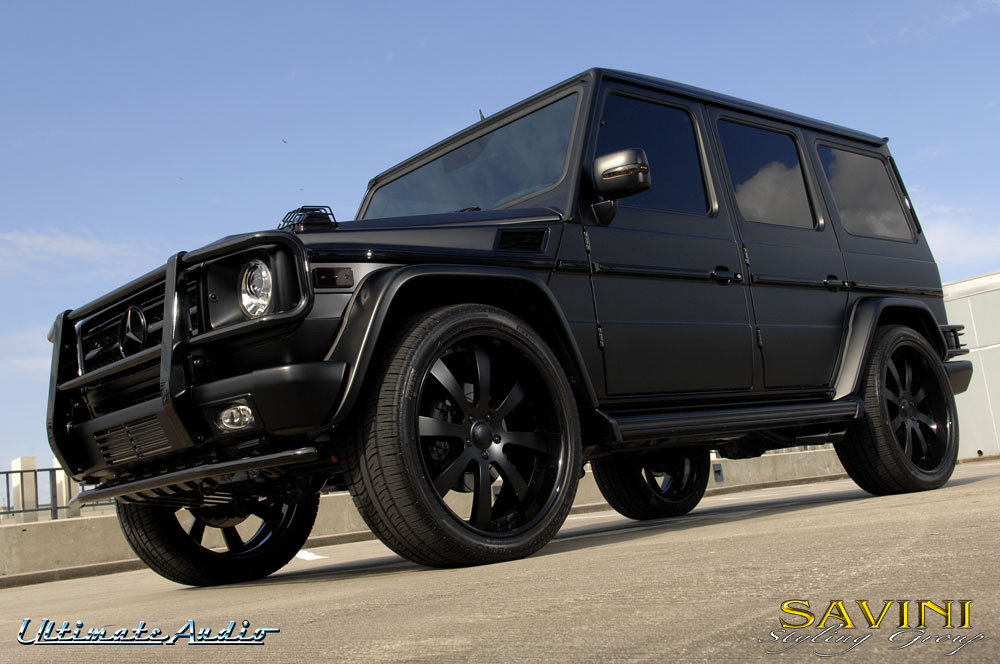 G wagon on sv 28s wheels savini forged flickr for Mercedes benz baby g class
