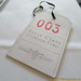 Cloak room ticket at Gilbert Scott by Marcus Wareing at St Pancras Hotel