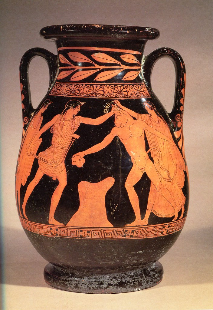 An Important Attic Red Figure Pelike Attributed To Hermona