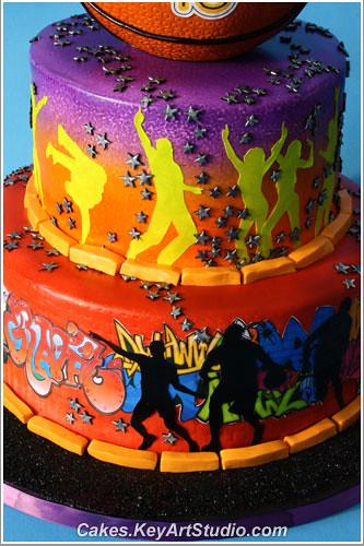 Basketball Chocolate Cake