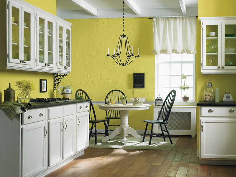 Walls: Bicycle Yellow 370A-3 Cabinetry