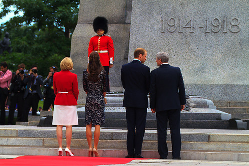 The Duke & Duchess of Cambridge with PM Stephen Harper | by Richard A. Whittaker
