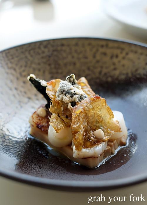 Slow cooked pig belly at Bennelong Restaurant Sydney