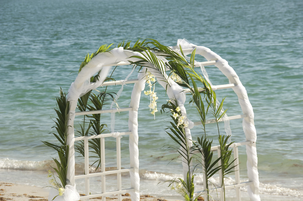 wedding arches with flowers