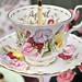 Sweet Pea Pink 3 Tier Vintage Cake Stand Teacup Top