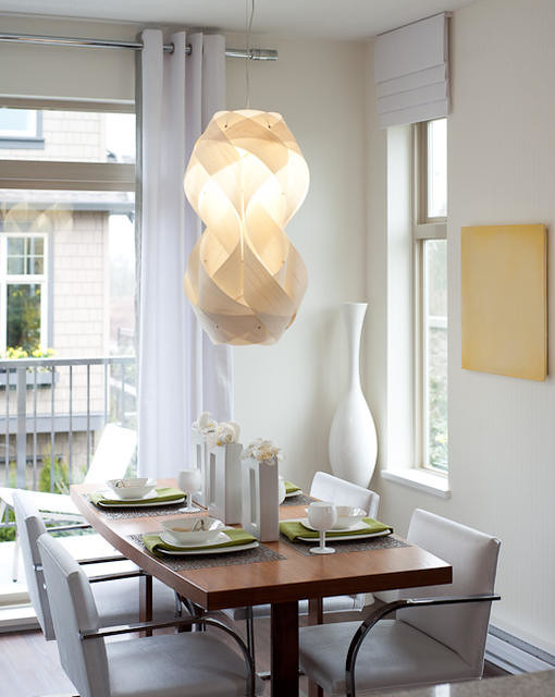 Contemporary Dining Room Built In Cabinets