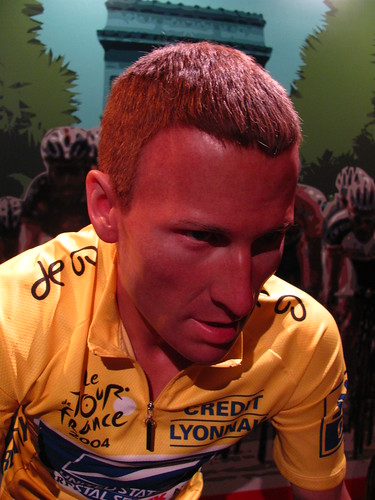 Lance Armstrong figure at Madame Tussauds Hollywood | by Castles, Capes & Clones