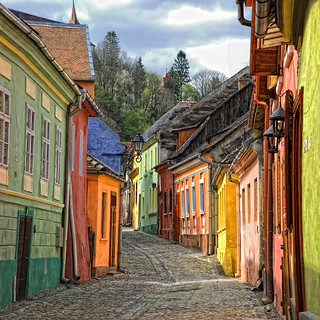 Street of Sighisoara | by George Nutulescu