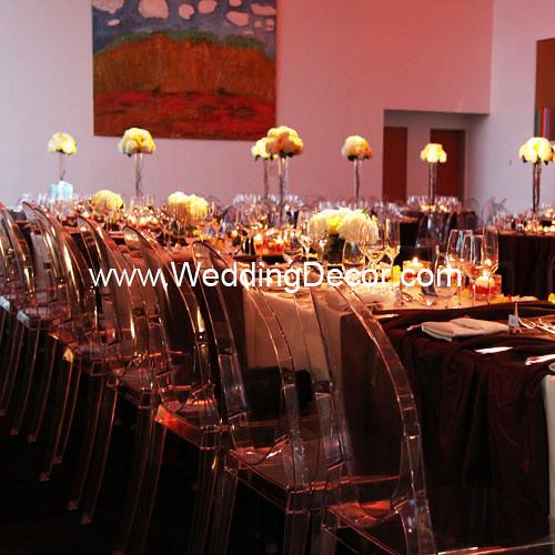 Paris Themed Wedding Reception Ideas: Head Table Wedding Decorations