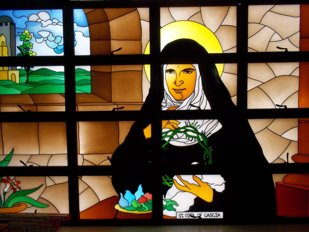 New stained glass of St. Rita's Shrine in Talisay City, Ce… | Flickr