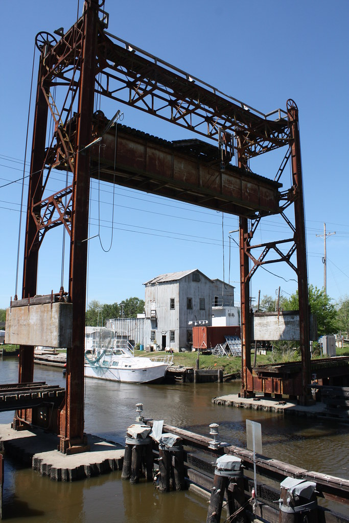 Delcambre Crailroad Drawbridge Iberia Parish Louisi