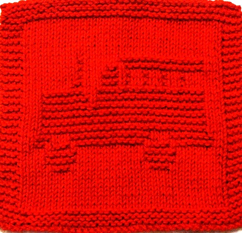 Knitted Cloth Patterns : Knitting Cloth Pattern - Fire Truck Pattern includes easy ? Flickr