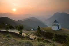 Sunrise over temple by MRKem