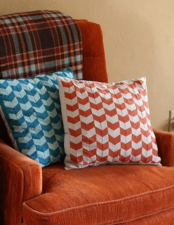Chevron Pillow Covers | by CaitlinD