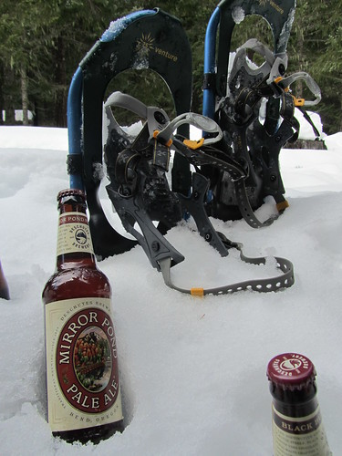 Great way to end a snowshoe trip! | by DeschutesBrewery