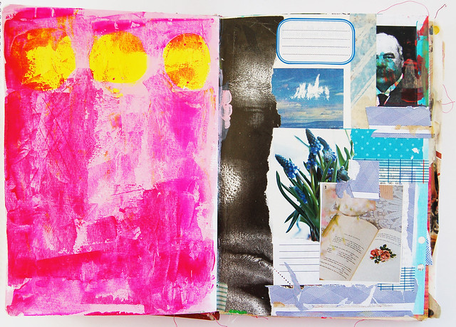 Prepped pages in the Art Journal