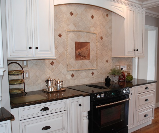 Kitchen Backsplash French Country Cast Ceramic Tiles Flickr