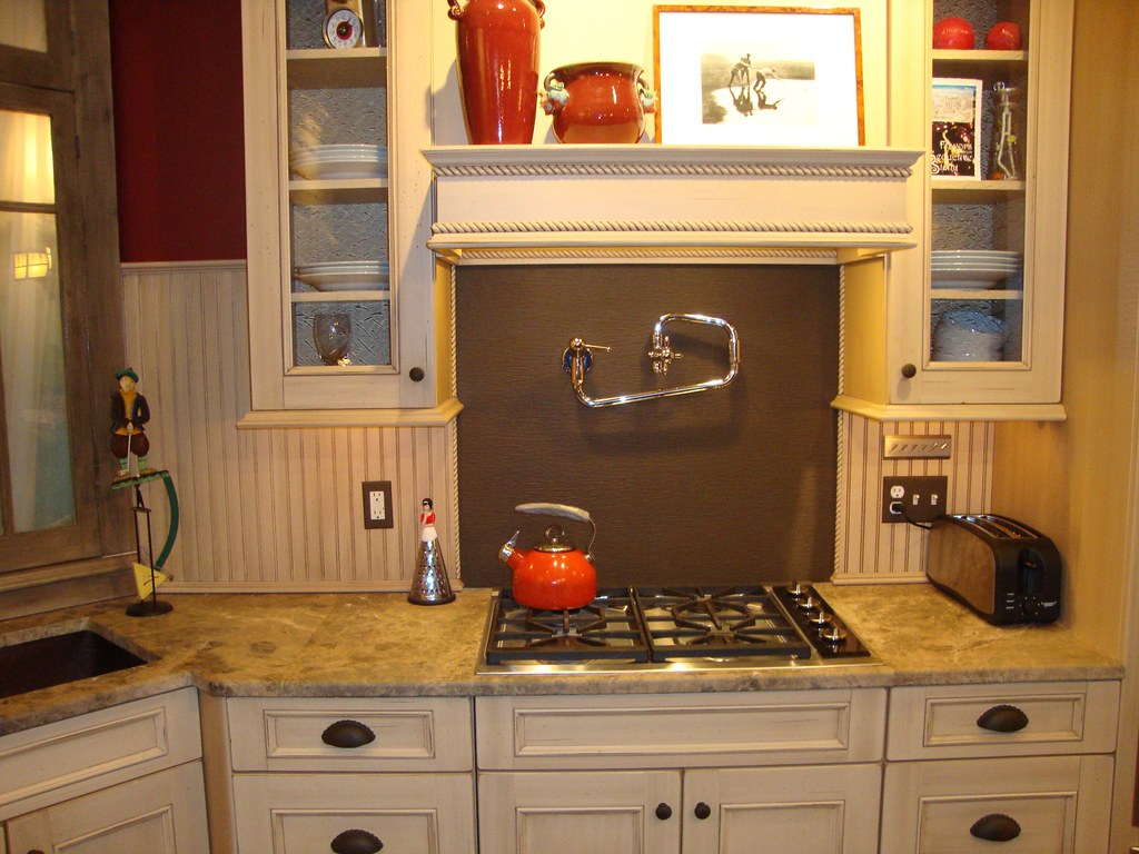 Kitchen Backsplash Bead Board For An Antique Look In