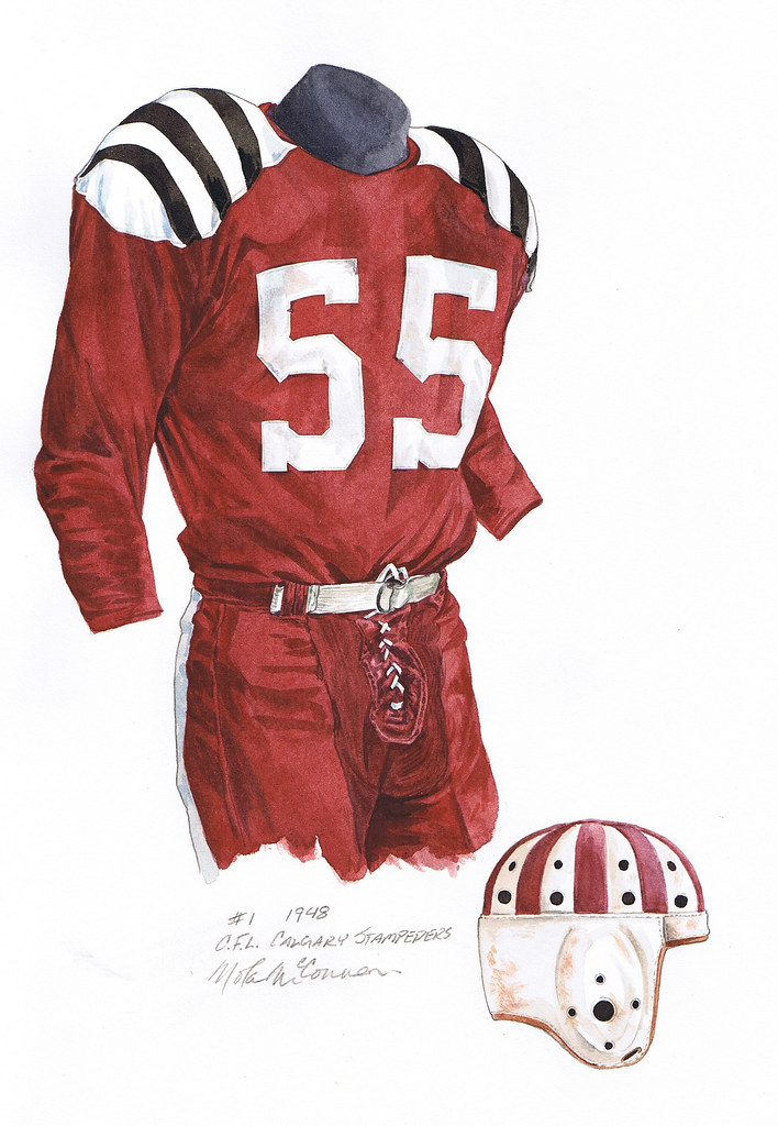 Calgary Stampeders 1948 Uniform Artwork This Is A Highly