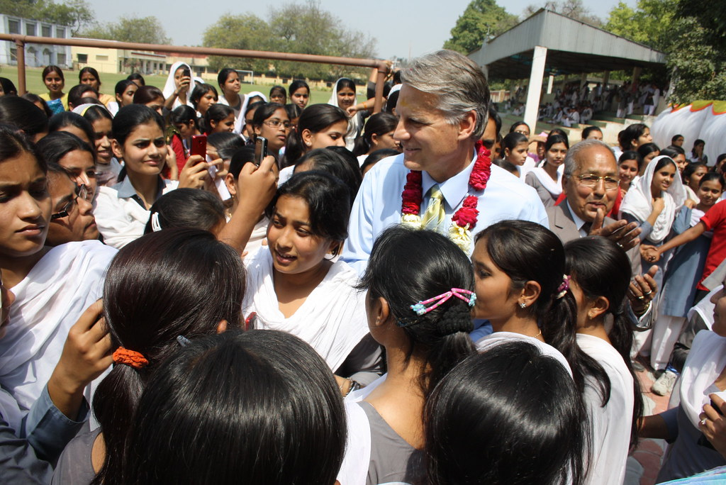 Ambassador Roemer In Lucknow Ambassador Roemer With The St Flickr
