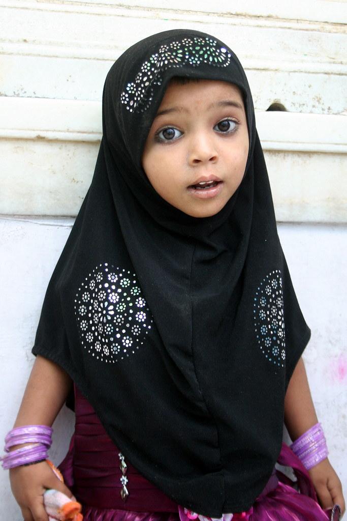 little girl in hijab