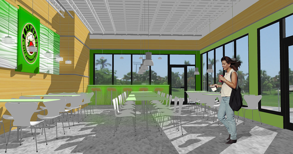 Conceptual design rendering d restaurant inter