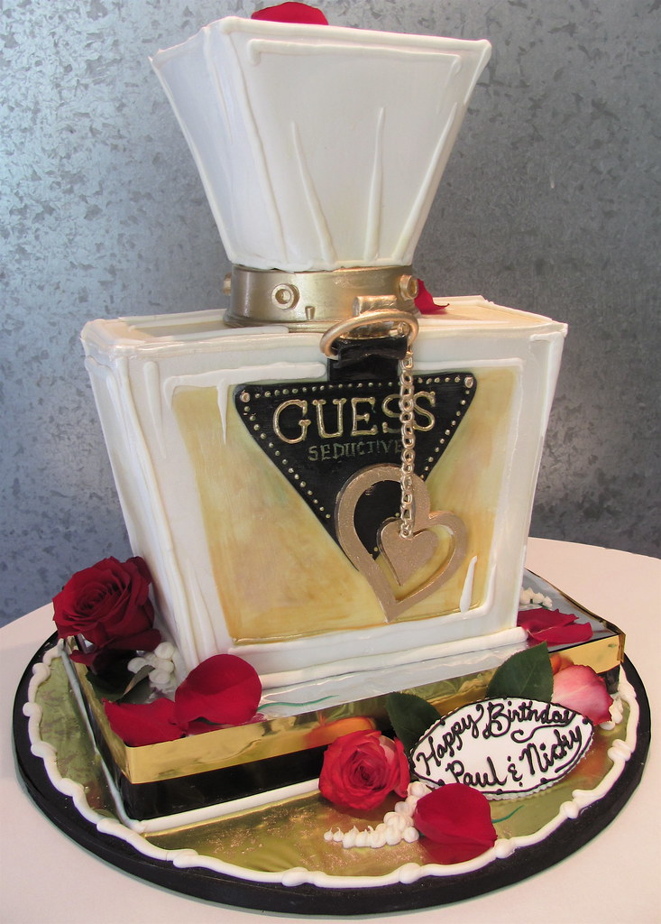 Guess Perfume 3 D Cake As A Perfume Bottle Mostly