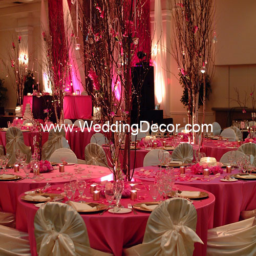 Brown Amp Fuchsia Wedding Reception Cluster Tables Flickr